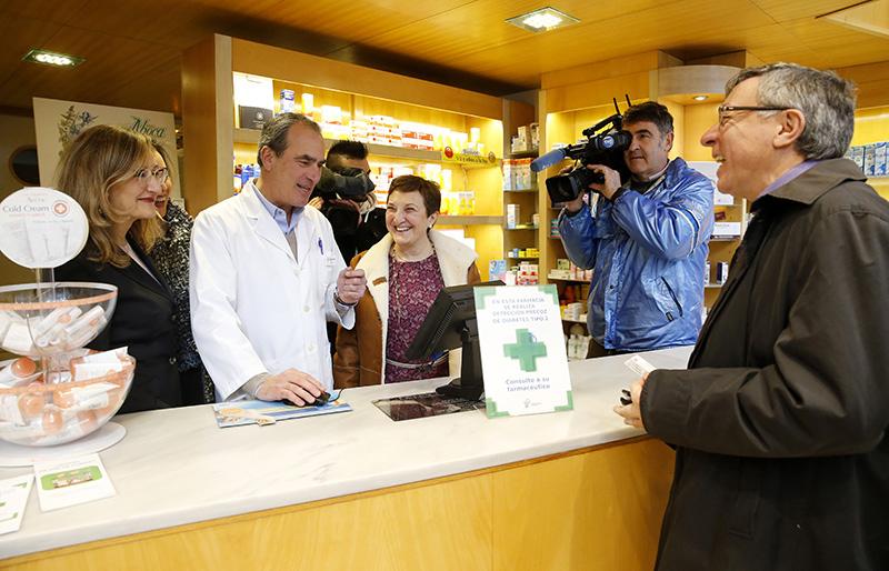 12:00Farmacia Asís de la Maza, San Fernando, 36,  Santander  La consejera de Sanidad, María Luisa Real, presenta la receta electrónica interoperable del Sistema Nacional de Salud en Cantabria.  6 feb 18