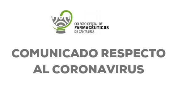 COMUNICADO RESPECTO AL CORONAVIRUS